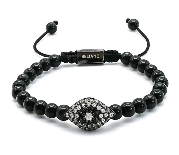Armband Cleopatra Eye - Obsidian - Diamonds